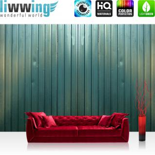 liwwing Vlies Fototapete 200x140 cm PREMIUM PLUS Wand Foto Tapete Wand Bild Vliestapete - 3D Tapete Abstrakt Blech Linien Rillen Wand Design 3D grün - no. 815