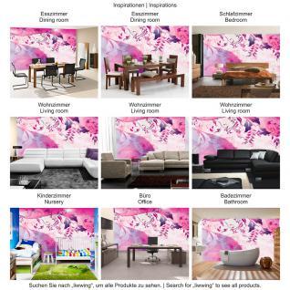 liwwing Vlies Fototapete 104x50.5cm PREMIUM PLUS Wand Foto Tapete Wand Bild Vliestapete - Ornamente Tapete Ranke Blätter Schnörkel Linien pink - no. 1930 - Vorschau 5