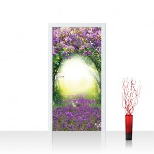 Türtapete - Wiese Blumen Licht Bogen Baum | no. 687