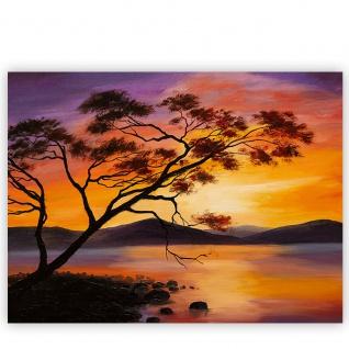 Leinwandbild Sonnenuntergang Baum Natur Romantisch Urlaub | no. 241 - Vorschau 2
