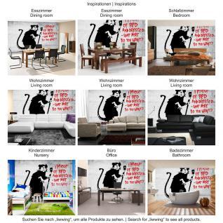 liwwing Vlies Fototapete 104x50.5cm PREMIUM PLUS Wand Foto Tapete Wand Bild Vliestapete - Illustrationen Tapete Steinmauer Mauer Stein Schrift Kunst Maus schwarz weiß - no. 1650 - Vorschau 5