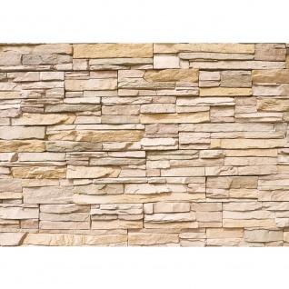 Fototapete Asian Stone Wall Steinwand Tapete Steinoptik Steine Wand 3D Steintapete beige | no. 1