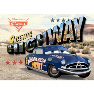 Fototapete Kindertapete Tapete Highway, Hudson Hornet, Dirt Track, Wüste bunt | no. 3387