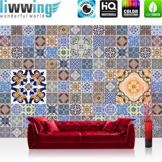 liwwing Vlies Fototapete 416x254cm PREMIUM PLUS Wand Foto Tapete Wand Bild Vliestapete - Ornamente Tapete Antik Design bunt - no. 1545