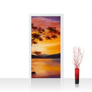 Türtapete - Sonnenuntergang Baum Natur Romantisch Urlaub   no. 241