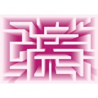 Fototapete Kunst Tapete Abstrakt Kunst Labyrinth Linien pink | no. 2234