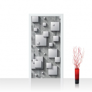 Türtapete - Holzwand Rechtecke 3D Optik | no. 885