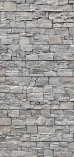 Türtapete - Steinwand Steinoptik Steine Wand Mauer Steintapete | no. 171 - Vorschau 5