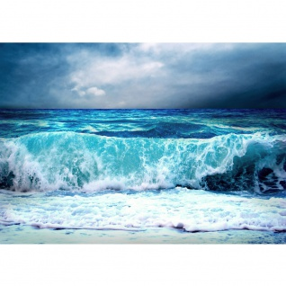 Fototapete Blue Seascape Meer Tapete Ozean Meer Wasser See Welle Sturm Blau Türkis blau   no. 100
