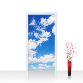 Türtapete - Himmel Wolken Blau Romantisch Urlaub   no. 154