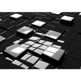 Fototapete Kunst Tapete Würfel Kacheln Kunst 3D schwarz - weiß | no. 2129