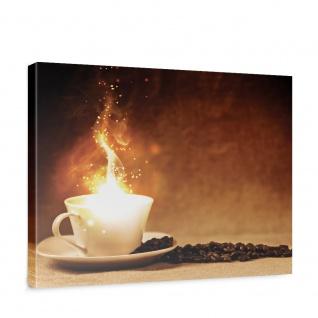 Leinwandbild Kaffeebohnen Kaffee Licht Feuer   no. 1678