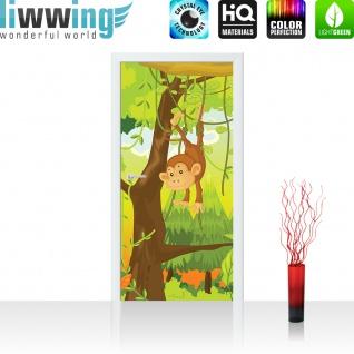 Türtapete - Jungle Animals Monkeys Kinderzimmer Safari Comic Affen Dschungel   no. 94 - Vorschau 2