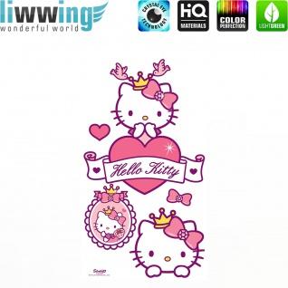 Wandsticker Sanrio Hello Kitty - No. 4627 Wandtattoo Sticker Kinderzimmer Katze Cartoon Kindersticker Mädchen