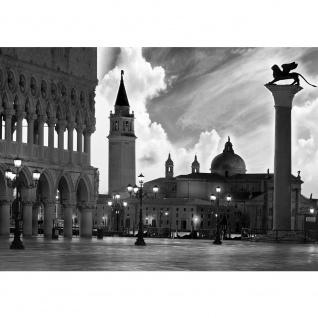 Fototapete Venedig Tapete Kirche Himmel San Giorgio Maggiore schwarz - weiß | no. 1664