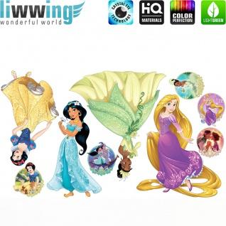 Wandsticker Disney Princesses - No. 4677 Wandtattoo Sticker Kinder Schneewitchen Arielle Cinderella Dornröschen