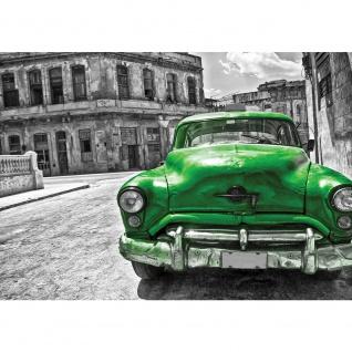 Fototapete Autos Tapete Oldtimer Auto Kuba Havanna grau | no. 2225