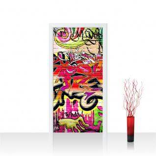Türtapete - Kinderzimmer Graffiti Streetart Graffitti Sprayer 3D bunt | no. 220