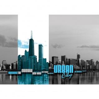 Fototapete USA Tapete Skyline USA Amerika Wasser Stadt schwarz - weiß | no. 2896