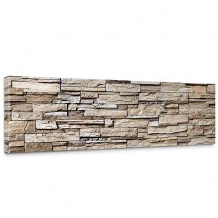 Leinwandbild Noble Stone Wall - natural Steinoptik Steinwand Stonewall Steine   no. 135 - Vorschau 1