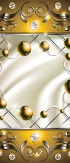 Türtapete - Abstrakt Ornamente Perlen Diamant Gitter Welle   no. 742 - Vorschau 5
