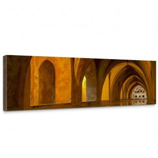 Leinwandbild Bath of Alcazar Arkaden 3D Perspektive Gewölbe Bad Wasser Reflexion | no. 63