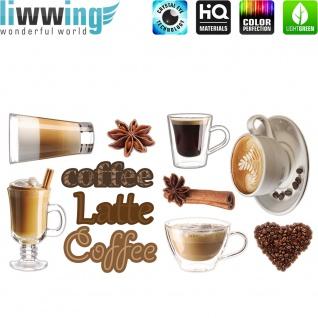 Wandsticker - No. 4828 Wandtattoo Sticker Kaffee Coffee Coffe Latte Mocca