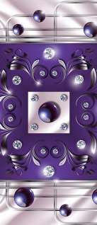 Türtapete - Abstrakt Ornamente Perlen Diamant Gitter | no. 738 - Vorschau 5
