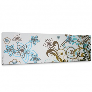 Leinwandbild Ornamente Wild Blüten Edel Verspielt | no. 277