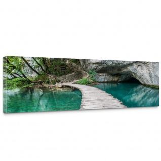 Leinwandbild Natur Wasser Holzweg Romantisch | no. 268