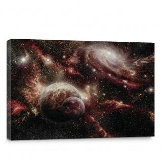 Leinwandbild Weltall Planeten schwarzes Loch Sterne | no. 1868