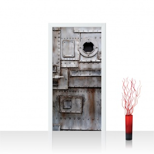 Türtapete - Sonstiges Tür Metall Fabrik Rost Fenster | no. 4251