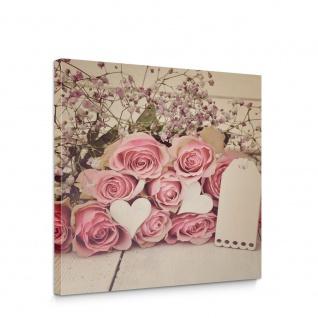 Leinwandbild Natur Blumen Roden Rosenstrauß Liebe | no. 5250