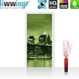 liwwing Vlies Türtapete 91x211 cm PREMIUM PLUS Tür Fototapete Türposter Türpanel Foto Tapete Bild - Toronto Skyline Night - no. 669