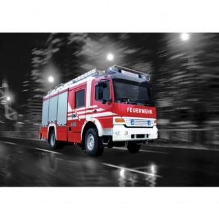 Fototapete Skylines Tapete Feuerwehr Auto Nacht Lichter Skyline rot   no. 541