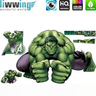 Wandsticker Marvel Avengers - No. 4648 Wandtattoo Sticker Kinderzimmer Hulk Iron Man Thor Captain America