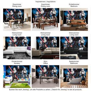 liwwing Vlies Fototapete 104x50.5cm PREMIUM PLUS Wand Foto Tapete Wand Bild Vliestapete - Cartoon Tapete STAR WARS Storm Trooper Laserschwert Kindertapete schwarz - no. 2593 - Vorschau 5
