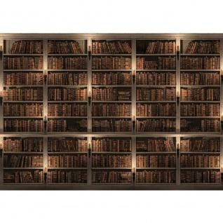 Fototapete Sonstiges Tapete Regal Bücher Bibliothek Vintage braun   no. 1785