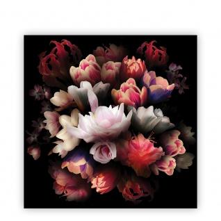 Leinwandbild Blume Bunte Rose Dunkelheit Bukett | no. 4324 - Vorschau 2