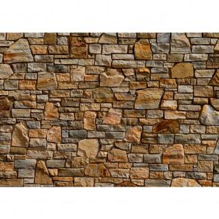 Fototapete Steinwand Tapete Steinwand Steinoptik Steine Wand Mauer Steintapete braun | no. 155