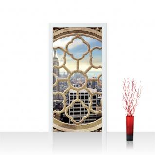 Türtapete - Fenster Stadt Skyline New York | no. 725