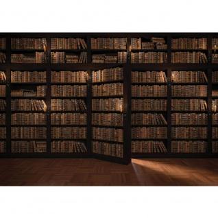 Fototapete Holz Tapete Laminat Bücher Regal Schrank Tür Kacheln braun | no. 3042