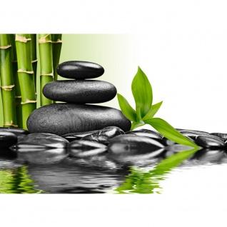 Fototapete Wellness Tapete Steine Wasser Natur Abstrakt Ruhe anthrazit | no. 203