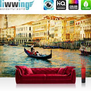 liwwing Vlies Fototapete 350x245 cm PREMIUM PLUS Wand Foto Tapete Wand Bild Vliestapete - Stadt Venedig Kanal - no. 240
