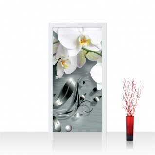 Türtapete - Ornament Orchidee   no. 606
