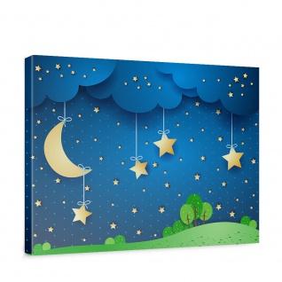 Leinwandbild Dreaming Night Kinder Sternenhimmel Stars Sterne Leuchtsterne | no. 120 - Vorschau 1