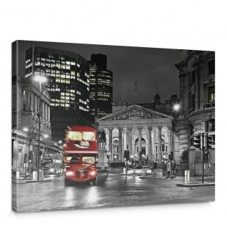 Leinwandbild London Bus Lightning Nacht Skyline   no. 538