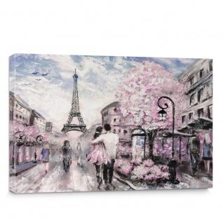 Leinwandbild Stadt Paris Frankreich Kunst Eiffelturm Liebe | no. 4551