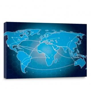 Leinwandbild Landkarte Welt Kontinent Globus Wissenschaft Kartografie Reise | no. 4316