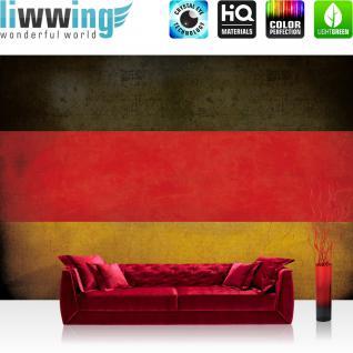 liwwing Fototapete 368x254cm PREMIUM Wand Foto Tapete Wand Bild Papiertapete - Texturen Tapete Schwarz-Rot-Gold Flagge Deutschland BRD bunt - no. 3450